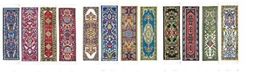 Oriental Carpet Bookmarks - Authentic Woven Carpet (Set of 12)
