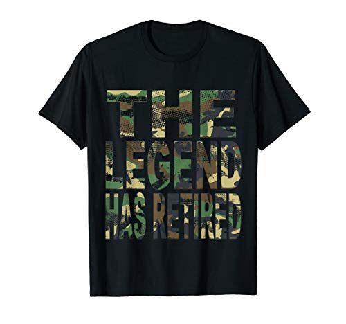 (The Legend Has Retired T-shirt Funny Army Retirement Gift)