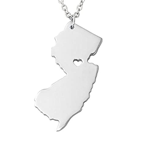 Amazon i heart new jersey necklace newjersey map pendant state i heart new jersey necklace newjersey map pendant state necklace state pendant map necklace aloadofball Image collections