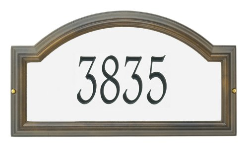 "Custom Providence Arch REFLECTIVE ESTATE WALL Plaque 23""W x 12""H (1 Line)"