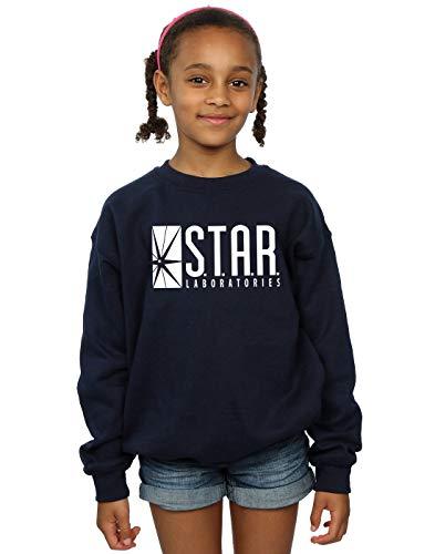 DC Comics Girls The Flash Star Labs Sweatshirt 12-13 Years Navy Blue -