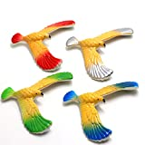Nivalkid 4Pcs Magic Balancing Bird Science Desk Toy Novelty Eagle Trick Child Party Gift Balance Eagle Child Trumpet Classic Puzzle Gravity Bird Development Intellectual Infant Toys (Colorful)