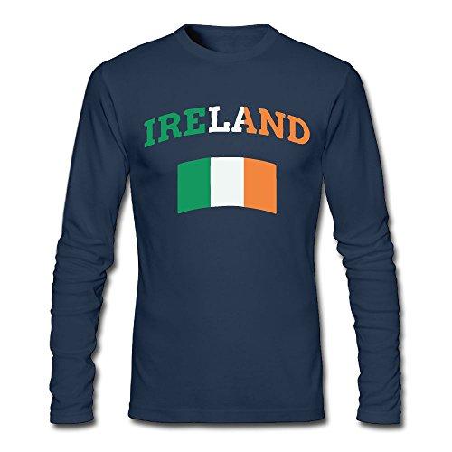 Men's Vintage Irish Ireland Long-Sleeve Cotton T-Shirt