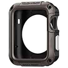 Spigen Tough Armor Apple Watch 42mm Case with Built-In Screen Protector and Heavy Duty Air Cushion Technology for Apple Watch 42mm 2015 - Gunmetal