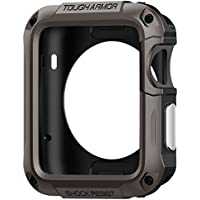 Spigen Tough Armor Apple Watch Case with Extreme Heavy Duty Protection and Built In Screen Protector for Apple Watch Series 2 42mm (2016) - Gunmetal