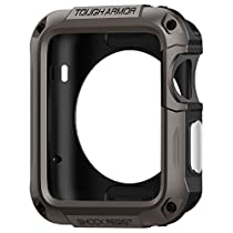 Spigen Tough Armor Apple Watch Case with Extreme Heavy Duty Protection and Built In Screen Protector for Apple Watch 42mm 2015 - Gunmetal