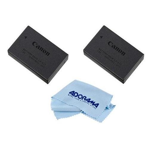 Canon 2X LP-E17 Lithium-Ion Battery Pack for EOS Rebel T6i/T6s Digital Camera - With Microfiber Cleaning Cloth