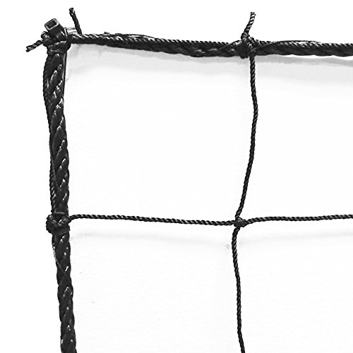 - Just For Nets JFN Soccer Backstop/Barrier Net, Black, 10' x 20'