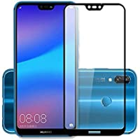 Canyon Premium HD 5D Crystal Clear Tempered Glass Screen Protector for Huawei P20 Lite(Black)