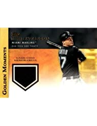 2012 Topps Golden Moments Relics #GMR-MST Giancarlo (Mike) Stanton Game Worn Jersey Baseball Card