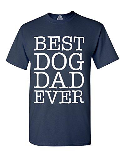 Shop4Ever Best Dog Dad Ever T-Shirt Large Navy 0