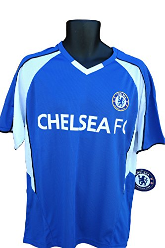 Chelsea F.C. Soccer Official Adult Soccer Training Performance Poly Jersey Rhinox-P001 Small (Shirt Chelsea Training)
