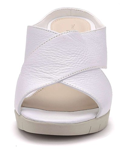 The Cross Tacco Bianco FLEXX Donna Girl Sabot nnRfUZ
