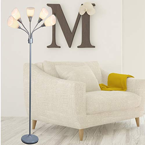 Light Accents Medusa Grey Floor Lamp with White Acrylic Shades by LIGHTACCENTS (Image #9)
