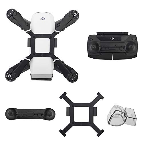 HeiyRC 3packs Accessories for DJI Spark,Gimbal Holder Camera Lens Cover Cap,Propeller Mount Bracket and Joystick Guard Protector