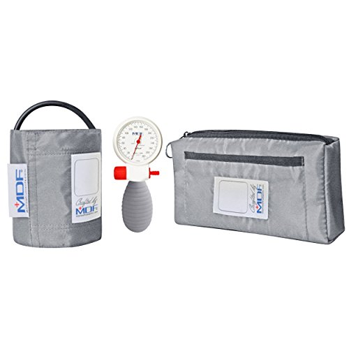 MDF® Airius® Palm Aneroid Sphygmomanometer - German Made Professional Blood Pressure Monitor with Adult Sized Cuff Included - Full Lifetime Warranty & Free-Parts-For-Life - Grey (MDF848AR-12) -