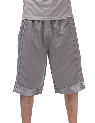 Pro Club Men's Heavyweight Mesh Basketball Shorts, Gray, 3X-Large