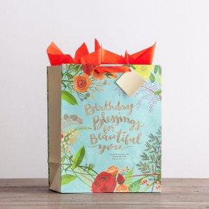 Gift Bag-Specialty-Birthday Blessings-Psalm 139:14 NIV-Large (Feb)