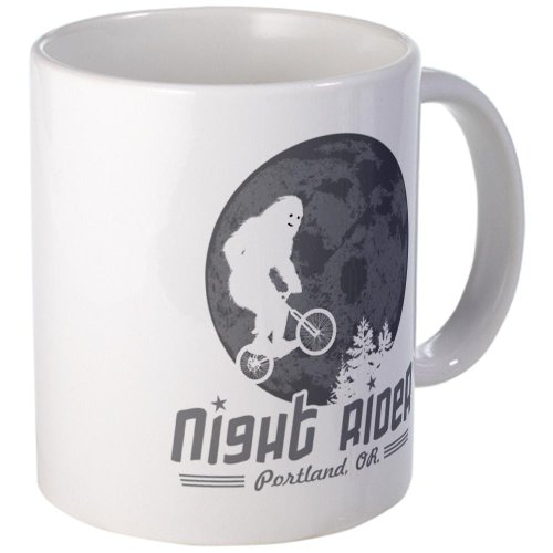 Bigfoot Night Rider Sasquatch Mug Mug by CafePress