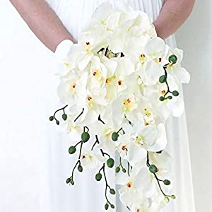 GSD2FF 1 Bouquet Artificial Butterfly Orchid Artificial Flowers for Decor Silk Flower Bouquet Phalaenopsis Real Touch 115