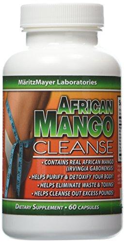 African Mango Cleanse Weight Loss Detox 60 Capsules Per Bott