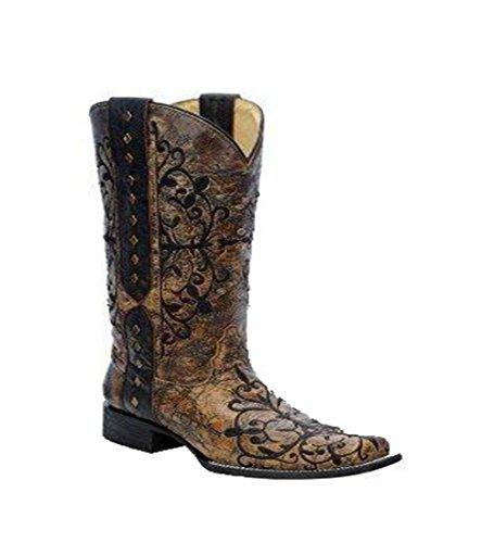 Womens Bronze Cowboy Boots - 9
