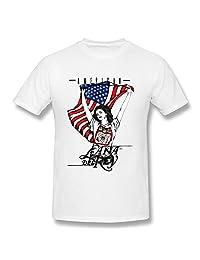 XiangXiangli Mens Lana Del Rey Short Sleeve T Shirt