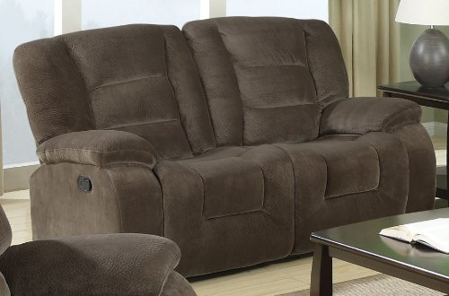 Coaster Home Furnishings Casual Motion Loveseat, Brown Siege by Coaster Home Furnishings