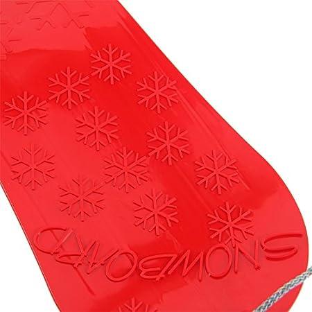 Kinder Snowboard grün mit Zugschnur Schneegleiter Kunststoff Seil Riesenrutscher