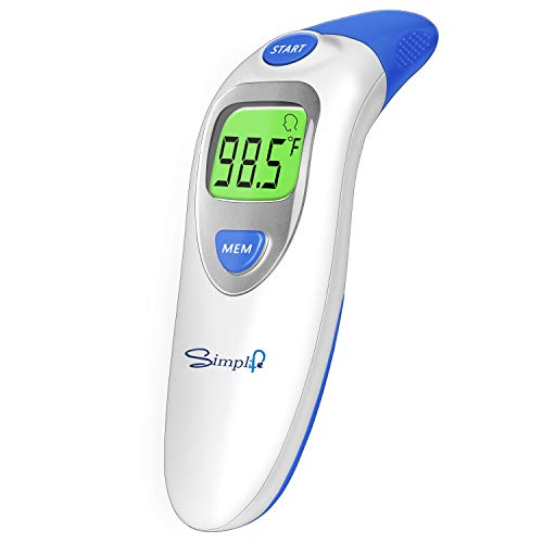Baby Forehead Thermometer with Ear Function, Digital Medical Infrared Body Temporal Basal Thermometer for Fever, for Kids, Children, Adults, Infants, Toddlers