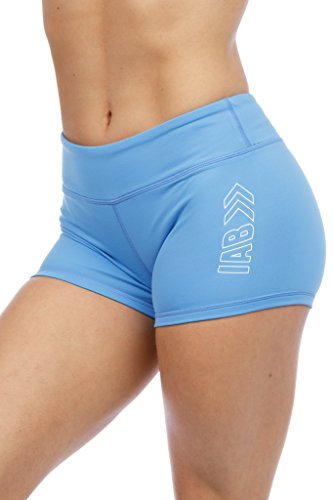 """3"""" Inseam Compression Shorts for Yoga, Running, Volleyball, and Crossfit Athletes (X-Small, Sky Blue)"""