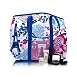 LANCOME Blue Canvas Paris Tote Bag, Bags Central