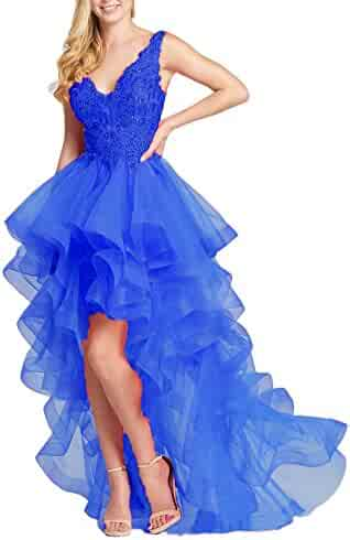 08ade899165 Olivia s Womens Double V-Neck Prom Dresses Hi-Lo Pageant Party Dresses  Ruffled 2018