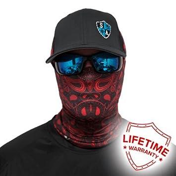 SA Company Red Paisley Face Shield Headband Loop Scarf Bandana Balaclava.  Multi-Functional Headwear  Amazon.co.uk  Sports   Outdoors f7d451a4c45