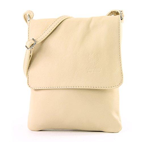modamoda de - ital leather shoulder bag Messenger bag ladies small T 34 Cream