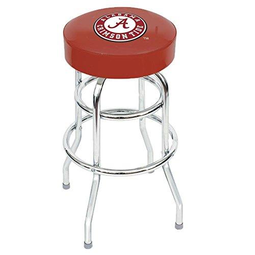 (Alabama Crimson Tide Bama Backless Swivel Sports Bar Stool)