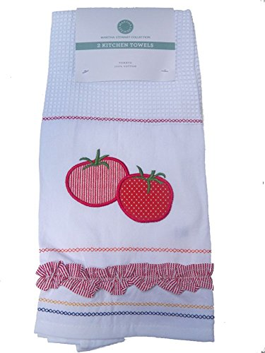 Martha Stewart Collection Kitchen Towels, Set of 2 Tomato