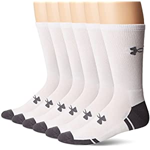 Under Armour Adult Resistor 3.0 Crew Socks, 6 Pairs