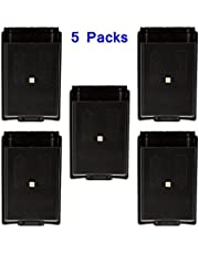 FOME Games Wireless Black Controller Back AA Battery Cover Pack Case Shell for Xbox 360 Controller-5 Pcs + FOME Gift