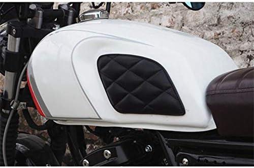 Nero Tiamu Adesivo Serbatoio Moto Protezione Serbatoio Moto retr/ò Decorazione Vintage Cafe Racer Style Knee Grip Moto Tank Pad