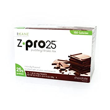 R-Kane Z-Pro 25 Protein Shakes High Protein Chocolate Shake and Pudding Mix, Weight Loss Chocolate Protein Drinks, Natural Energy Booster Meal Replacement Shake, Low Calorie, Low Carb Protein Powder