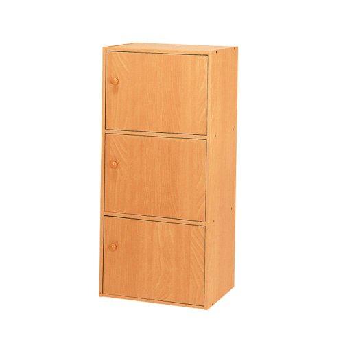 Home Source Industries US 3121 3-Door Utility Cabinet, Beech Finish by Home Source Industries