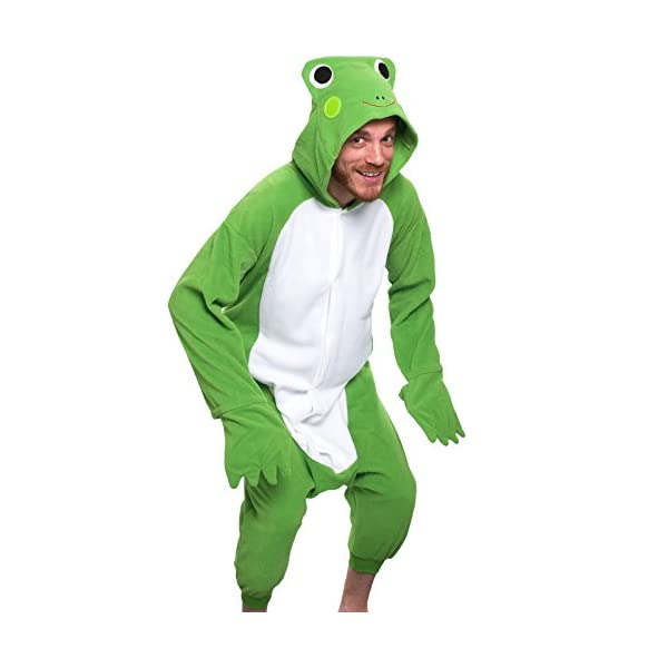 df0d3a783e Silver Lilly Unisex Adult Pajamas – Plush One Piece Cosplay Frog Animal  Costume