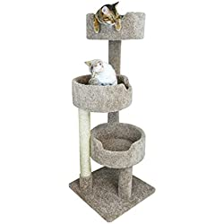 "New Cat Condos 52"" Deluxe Cat Tree, Brown, Large"