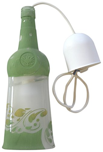 Vetreria Biellese green bottle lamp by Vetreria Biellese di Selva e Lanza snc