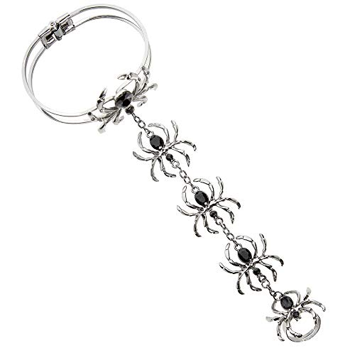 Widmann 09663 Women's Bracelet with Spider Ring, One Size