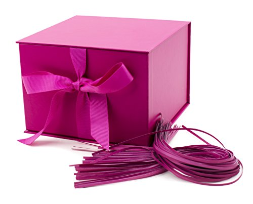 Hallmark Large Gift Box for Birthdays, Bridal Showers, Weddings, Baby Showers and More (Hot Pink)
