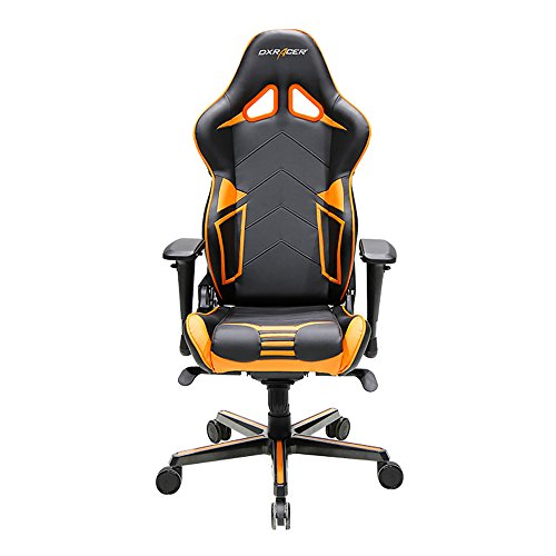 DXRacer Racing Series DOH/RV131/NO Office Chair Gaming Chair Carbon Look Vinyle Ergonomic Computer Chair eSports Desk Chair Executive Chair Furniture with Free Cushions (Black/Orange) For Sale