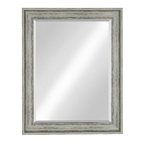 Kate and Laurel McKinley Framed Wall Vanity Beveled Mirror,