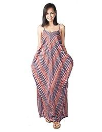 Lofbaz Women Low V Neck Maxi Dress